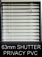 63mm Budget PVC Shutter Blinds