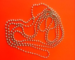Silver Bead Replacement Chain For Roller Blinds