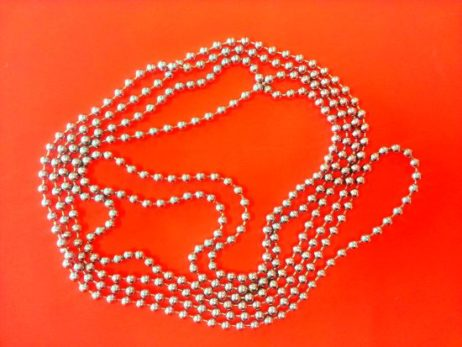 Rust proof Roller Blind silver pull chain