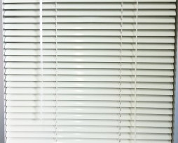 Slimeline Aluminium Venetien Blinds 25mm Alabaster