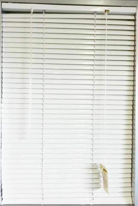 Slimeline Aluminium Venetien Blinds 25mm White