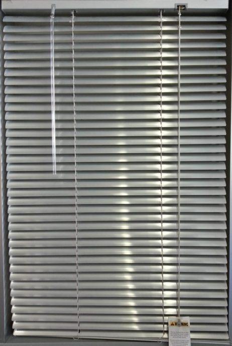 Slimline Aluminium Silver Venetian Blinds