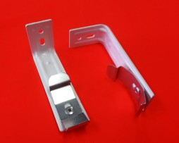 Silver Vertical Blind Face Fix Bracket
