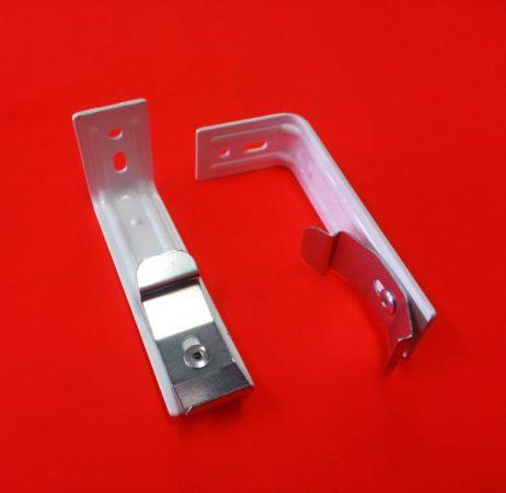 Silver Vertical Blind Face Fix Bracket