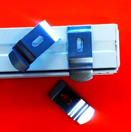 Vertical Blind Top Fix Bracket Silver